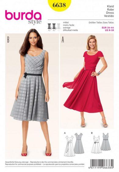 Burda Style Sewing Pattern - 6638 - Dresses