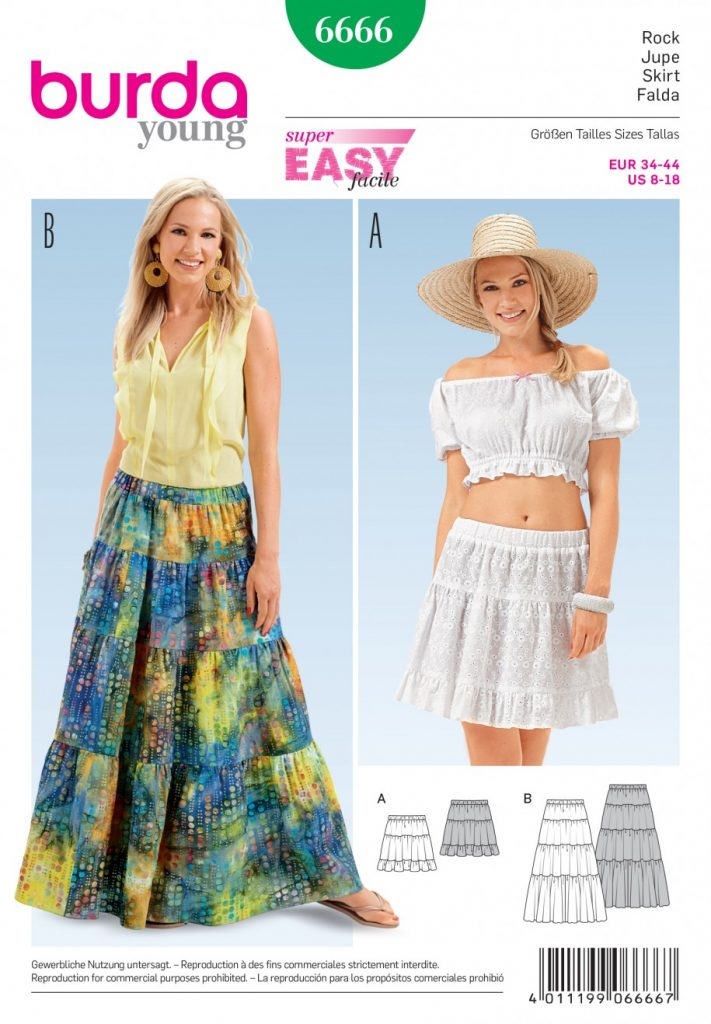 Burda Style Sewing Pattern - 6666 - Skirts | Sewing Patterns Online