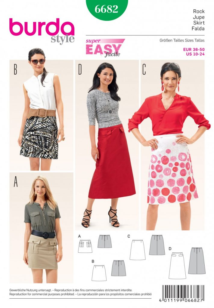 Burda Style Sewing Pattern - 6682 - Skirts | Sewing Patterns Online