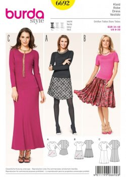 (Discontinued) Burda Style Sewing Pattern - 6692 - Misses' Dress