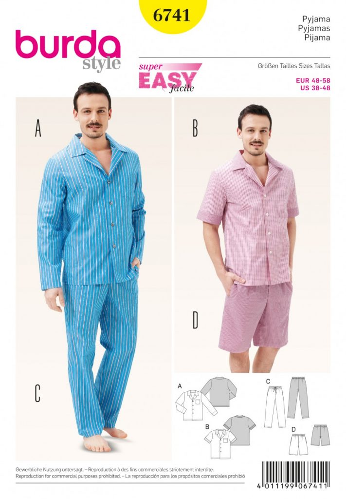 Burda Style Sewing Pattern - 6741 - Pyjamas Underwear | Sewing ...