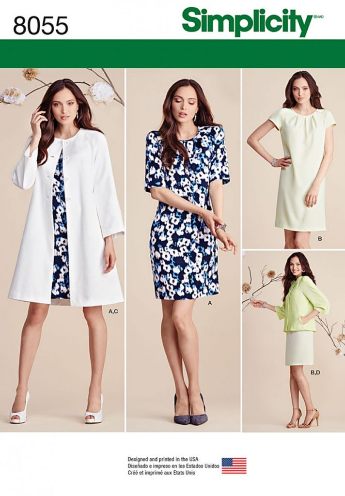 Simplicity Sewing Pattern 8055-K5 - Misses Dress and Coat or Jacket ...