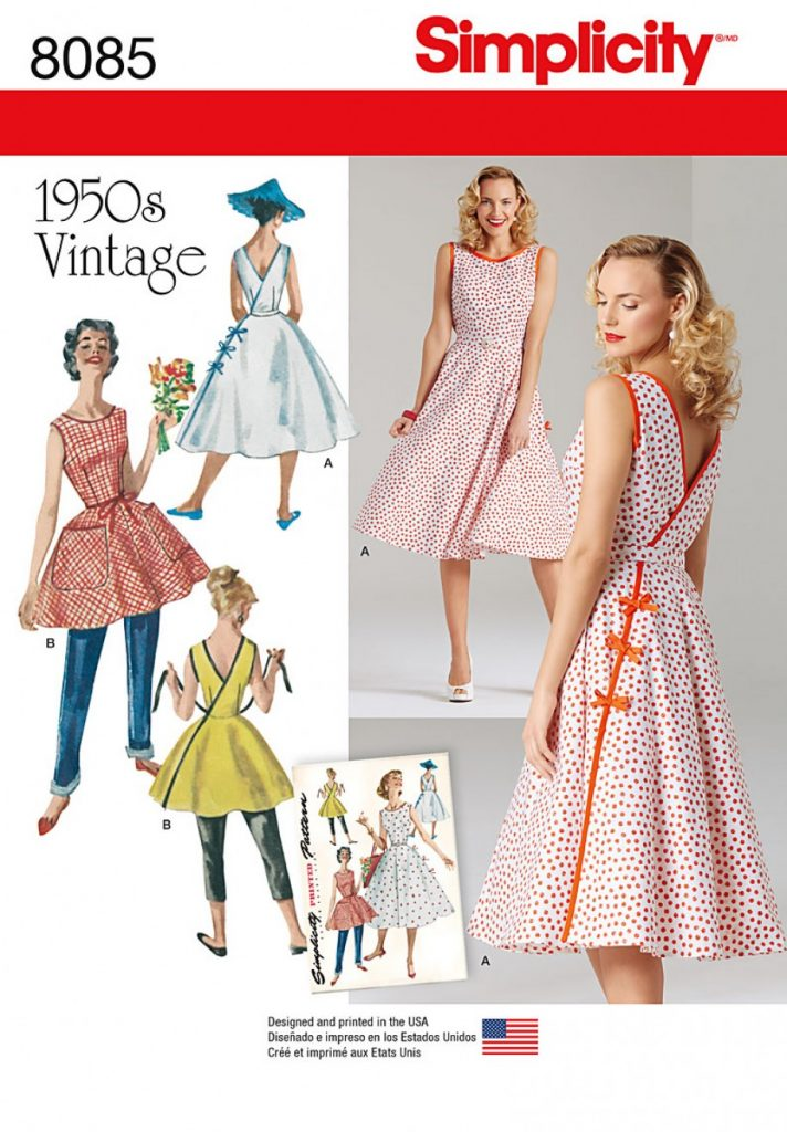 Simplicity Sewing Pattern 8085-R5 - Misses Vintage 1950s Wrap Dress ...
