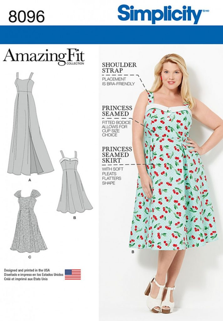 Simplicity Sewing Pattern 8096-GG - Amazing Fit Plus Size Dresses ...