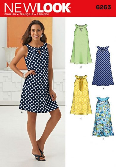 New Look Pattern 6263 - Misses' A- Line Dress
