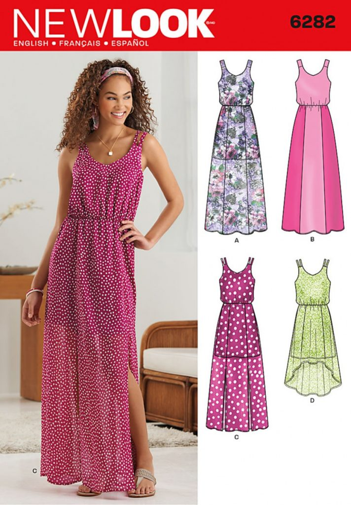 Discontinued New Look Pattern 6282 Misses Dress In