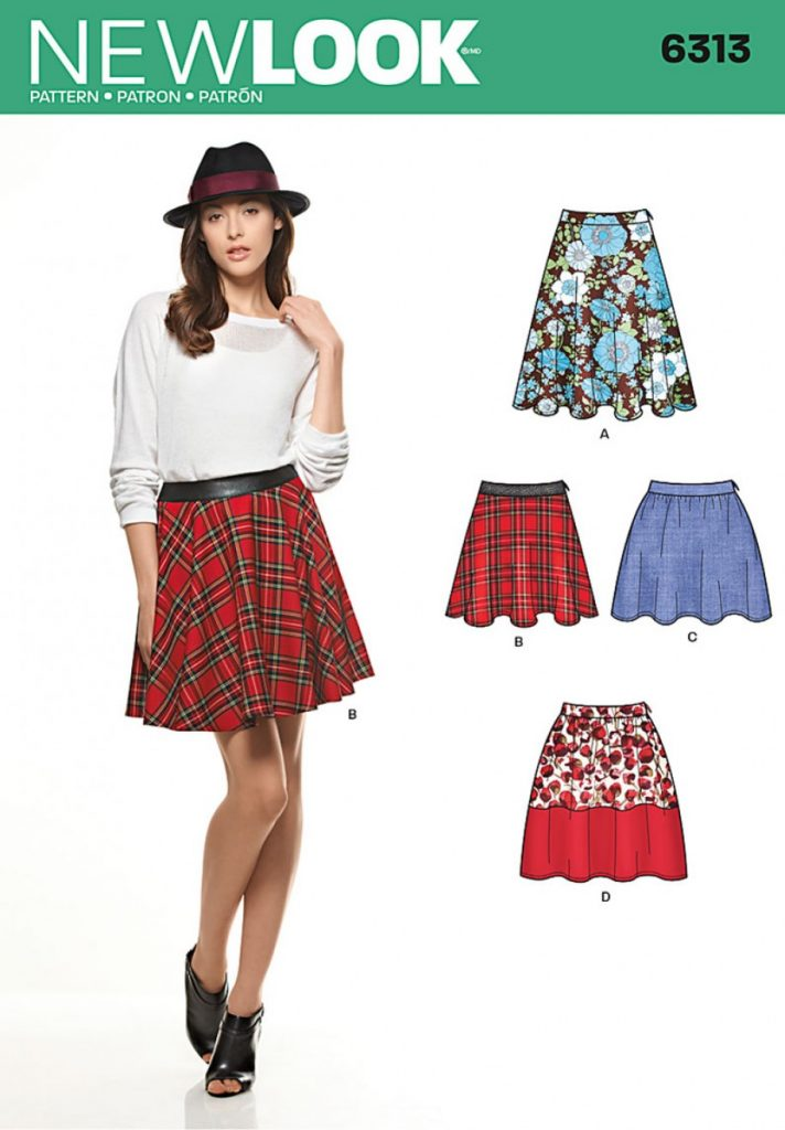 New Look Pattern 6313 - Misses\' Skirts with Length Variations ...