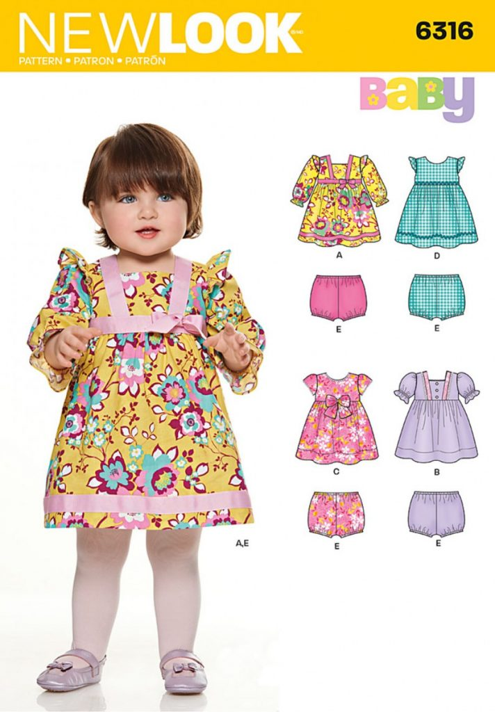 b8470668c Discontinued) New Look Pattern 6316 - Babies  Dresses and Panties ...
