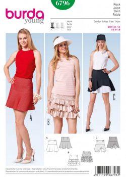 Burda Style Sewing Pattern - 6796 - Skirts