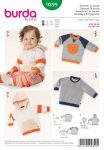 Burda Style Sewing Pattern - 9399 - Sweatshirt & Jacket Baby