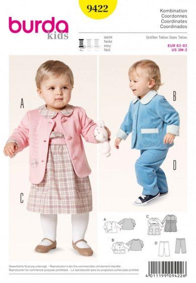 Burda Style Sewing Pattern - 9422 - Coordinates Baby