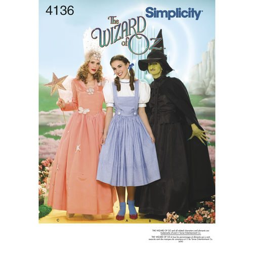Simplicity Sewing Pattern 4136-HH - Misses Costumes | Sewing ...