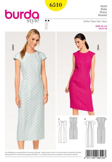 Burda Style Sewing Pattern - 6510 - Misses\' Shift Dress | Sewing ...
