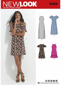 New Look Pattern 6488 - Misses Dress with Length and Sleeve Variations