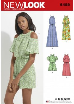 New Look Pattern 6489 - Misses' Jumpsuit/Romper and Dress