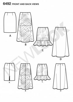 New Look Pattern 6492 - Misses' Skirts with Length Variations