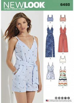 New Look Pattern 6493 - Misses' Jumpsuit and Dress in Two Lengths with Bralette