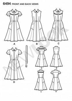 New Look Pattern 6494 - Misses Dress with Sleeve Variations