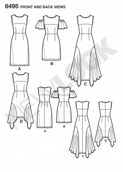 New Look Pattern 6495 - Misses Dresses with Length Variations