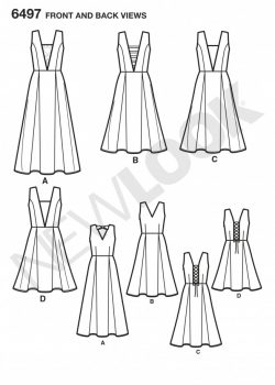 New Look Pattern 6497 - Misses Dress with Bodice and Length Variations
