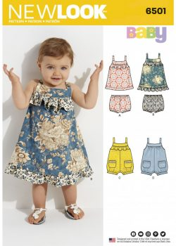 New Look Pattern 6501 - Babies' Dress and Romper