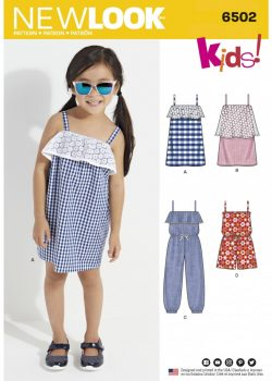 New Look Pattern 6502 - Child's Jumpsuit/Romper and Dresses
