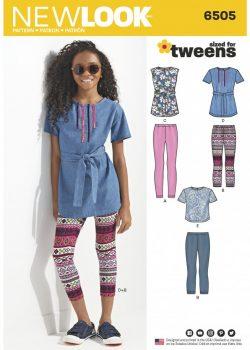 New Look Pattern 6505 - Girl & Girl Plus Tops and Leggings