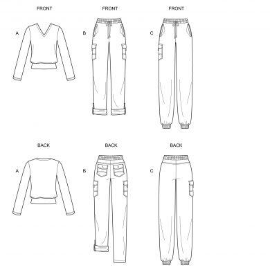 New Look Pattern n6644_line_art