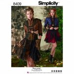 Simplicity Sewing Pattern 8409-H5 - Steampunk Bolero & Corset Skirt