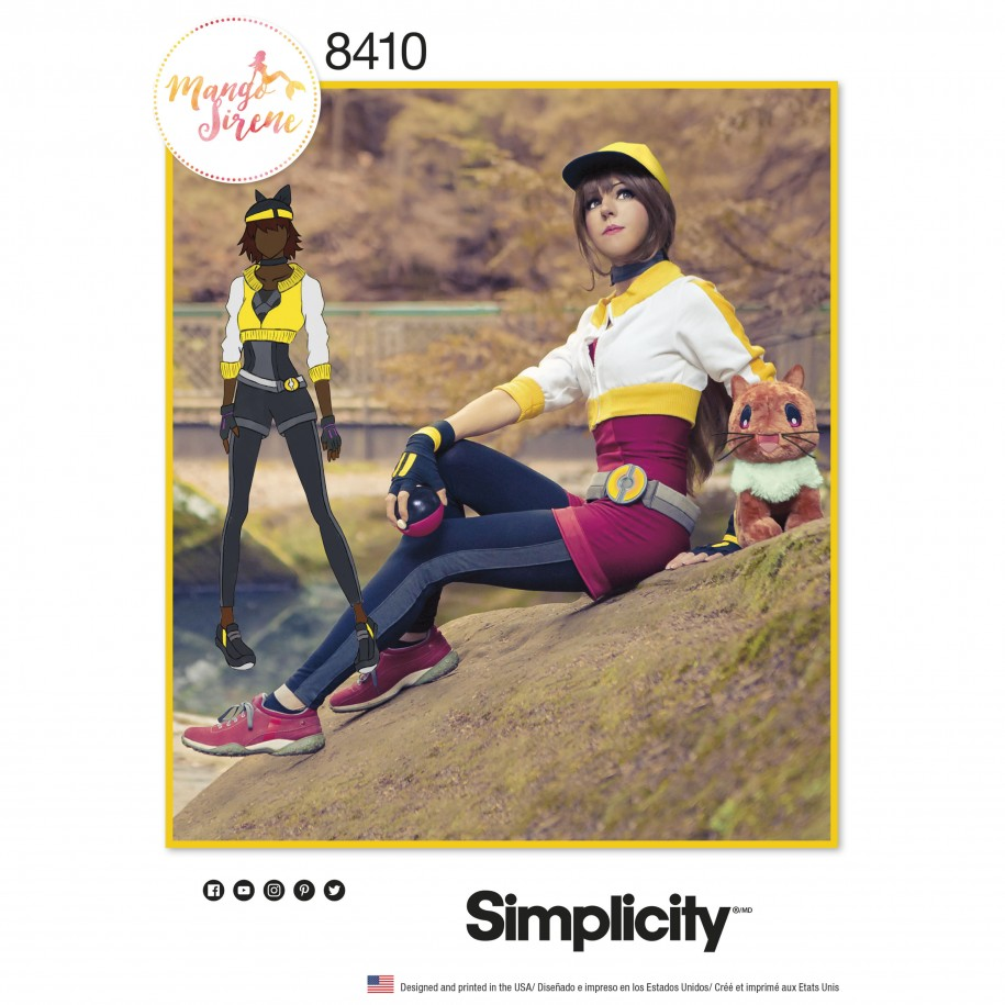 Simplicity sewing pattern 8410 u5 trainer costume for 8410 3