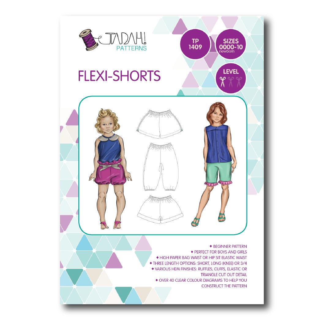 Tadah Sewing Pattern - Flexi Shorts | Sewing Patterns Online