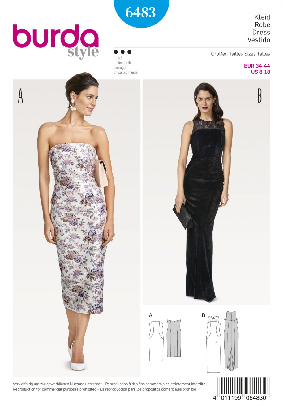 Burda Style Sewing Pattern - 6483 - Misses' Evening ...