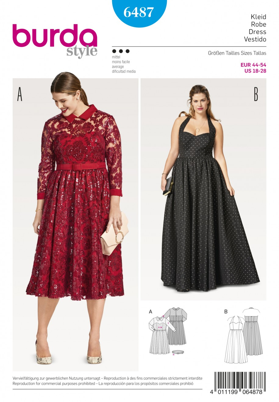 Burda Style Sewing Pattern - 6487 - Misses\' Evening Dress | Sewing ...