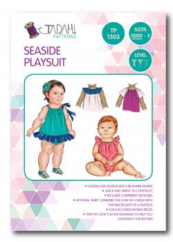 Tadah Sewing Pattern - Seaside Playsuit