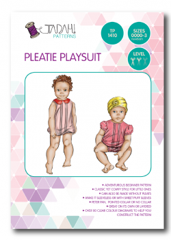Tadah Sewing Pattern - Pleatie Playsuit
