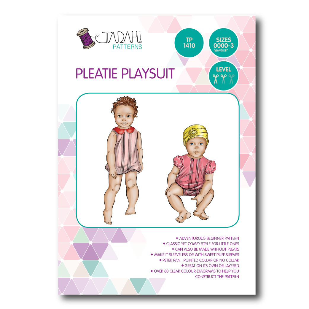 Tadah Sewing Pattern - Pleatie Playsuit   Sewing Patterns Online