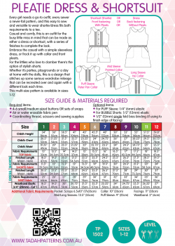 Tadah Sewing Pattern - Pleatie Dress & Shortsuit