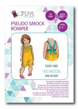 Tadah Sewing Pattern - Pseudo Smock Romper