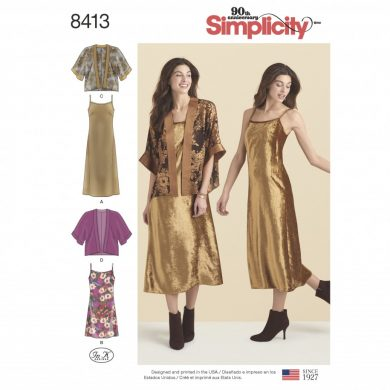 Simplicity Sewing Pattern 8413-R5 -Slip Dress in Two Lengths and ...