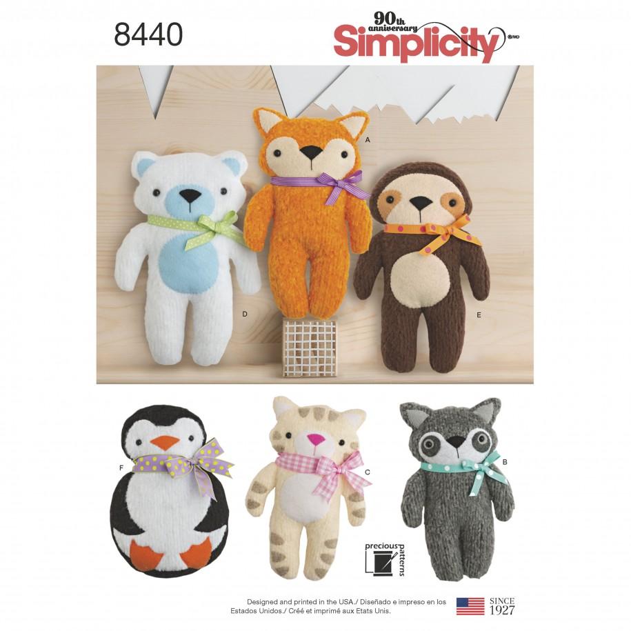 Simplicity Sewing Pattern 8440-OS -Stuffed Craft | Sewing Patterns ...