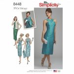 Simplicity Sewing Pattern 8448-U5 -Vintage Dress and Lined or Unlined Vest