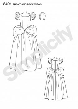 Simplicity Sewing Pattern 8491-RR - Misses' Cinderella Costume