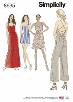 Simplicity Sewing Pattern 8635-R5 - Misses Dress/Jumpsuit and Romper