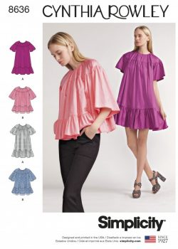 Simplicity Sewing Pattern 8636-A - Misses Dress and Top by Cynthia Rowley