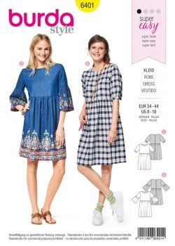 burda-swing-dress-pattern-b6401-envelope-front
