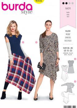 Burda Style Sewing Pattern - 6352 - Misses' Shirt Dress - Size 10-20