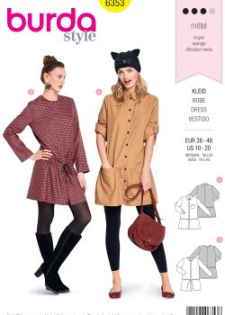 Burda Style Sewing Pattern - 6353 - Misses' Shirt Blouse - Size 10-20