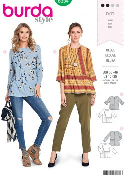 Burda Style Sewing Pattern - 6354 - Misses' Blouse - Size 10-20
