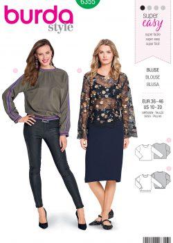 Burda Style Sewing Pattern - 6355 - Misses' Shirt Blouse - Size 10-20