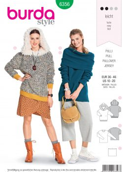Burda Style Sewing Pattern - 6356 - Misses' Pullover - Size 10-20